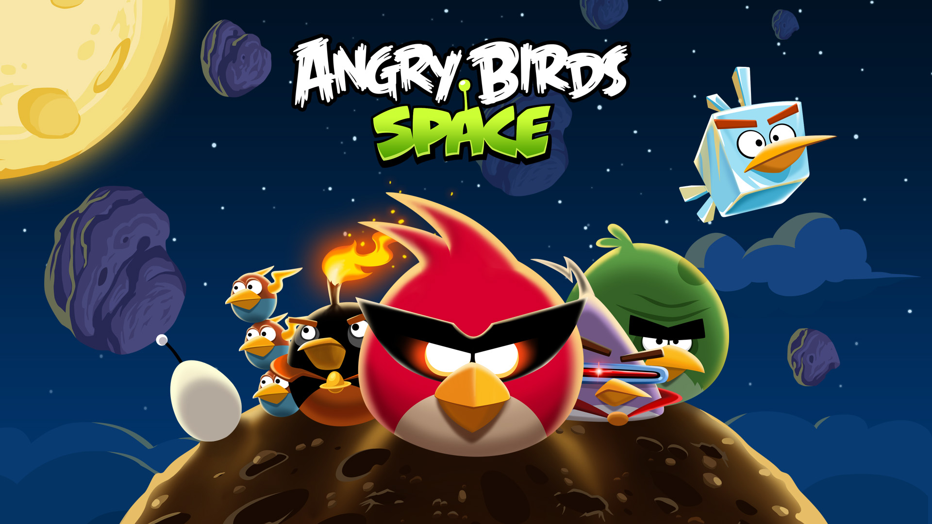Angry Birds Space wallpaper 2